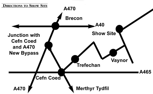 Vaynor Show Directions Map